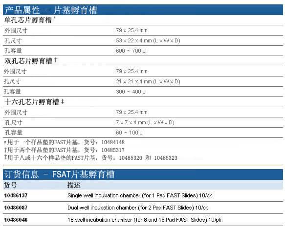 Whatman FAST芯片孵育槽, 10486087, 10486046, 10486137